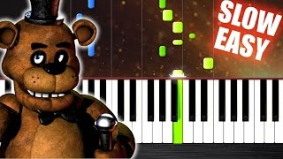 Five Nights at Freddy s Song SLOW EASY Piano Tutorial by PlutaX