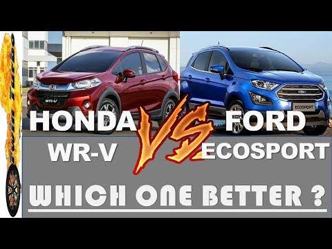 Ford Ecosport Vs Honda Wrv Which Is Better Ecosport Wrv Comparison