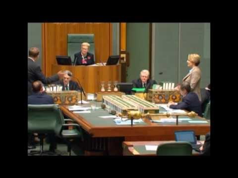 Tanya Plibersek vs Speaker Bronwyn Bishop in the first week of 44th Parliament