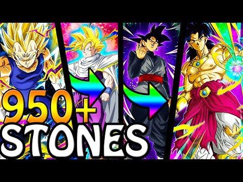 SPENDING 950+ STONES FOR AN LR!! DOUBLE RATES BANNER!! Dragon Ball Z Dokkan Battle!!