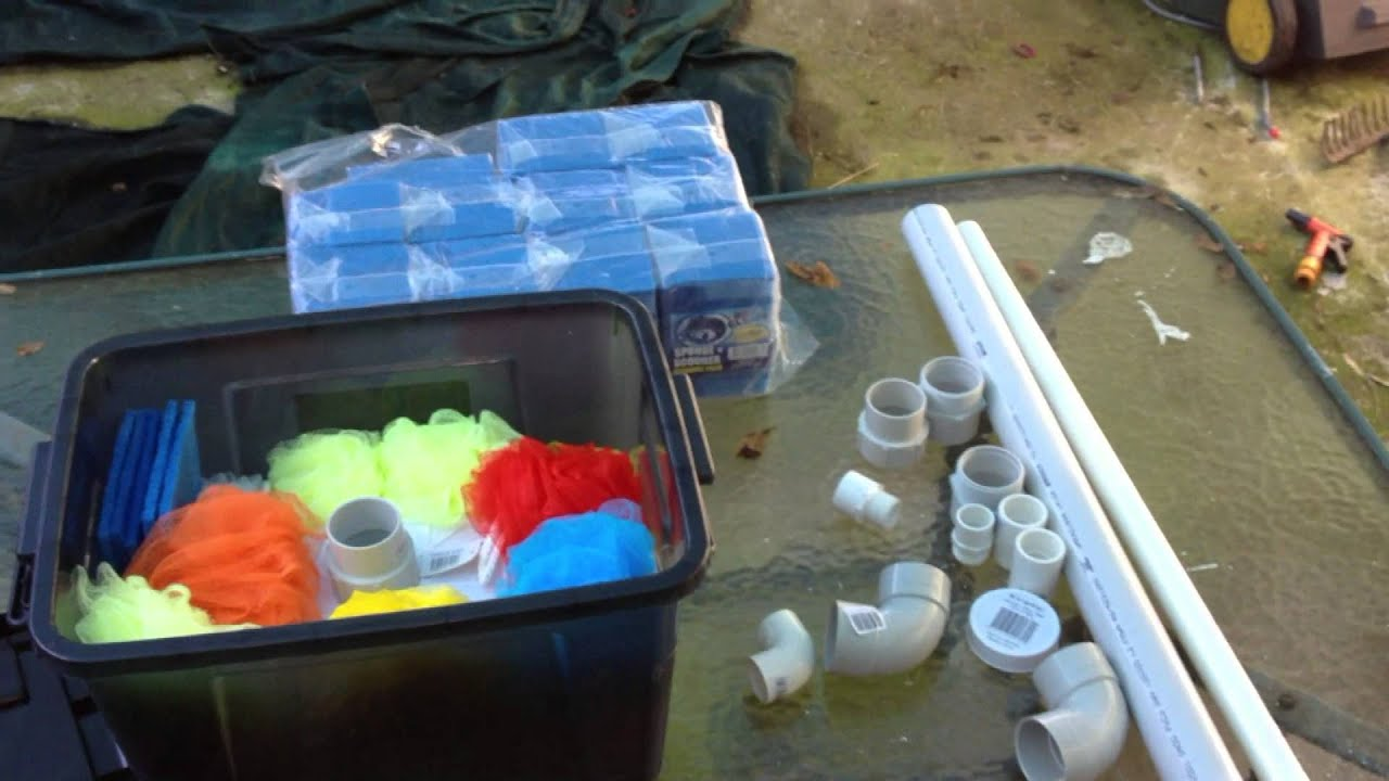 Diy pond filter system youtube for Diy garden pond filter