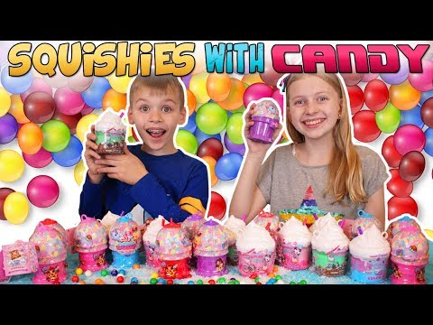 Smooshy Mushy Sugar Fix Candy Squishies - Gumballs Challenge!