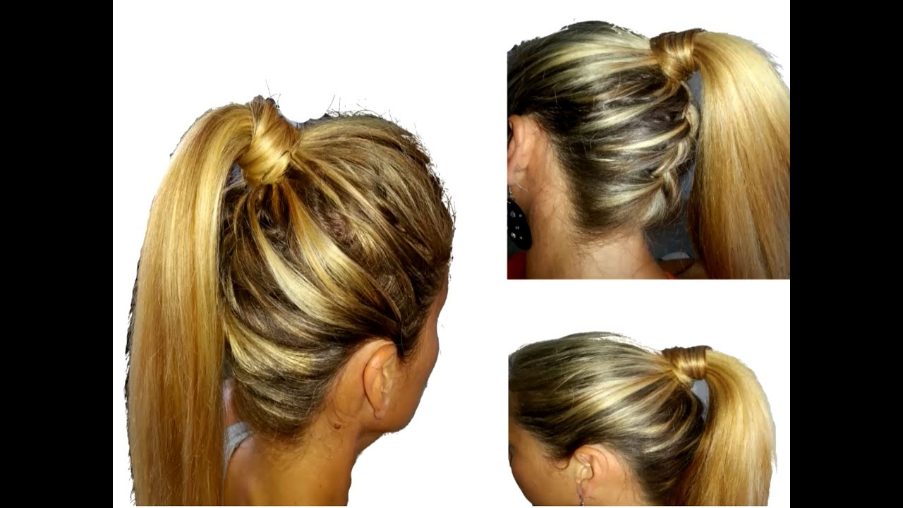 Tuto coiffure queue de cheval tress dans la nuque youtube - Comment faire une tresse indienne ...