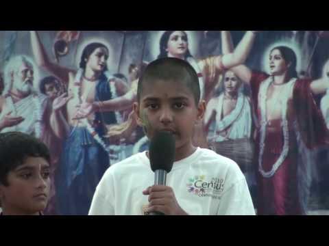Rathayatra 2010 - Bhagavad-gita Recital by Bhakti-vriksha children - 8/14