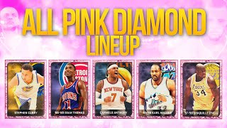 NBA 2K15 My Team PINK DIAMOND STEPH DEBUT! ALL PINK DIAMOND LINEUP ON FIRE!