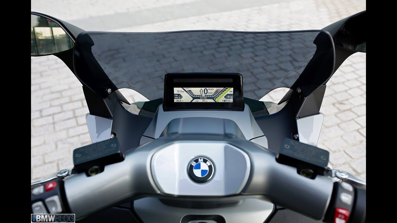2018 Bmw C Evolution Scooter Bmw Motorrad Electric Scooter Youtube