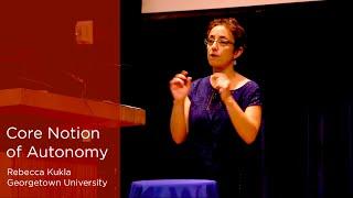 Rebecca Kukla on Autonomy, Georgetown University (5/6)