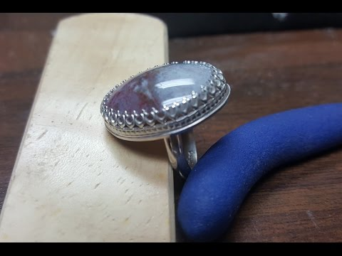 How to make a ring / Sterling silver with gemstone