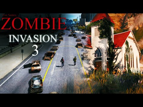 GTA 5 - Rockstar Editor - Zombie Invasion Part 3
