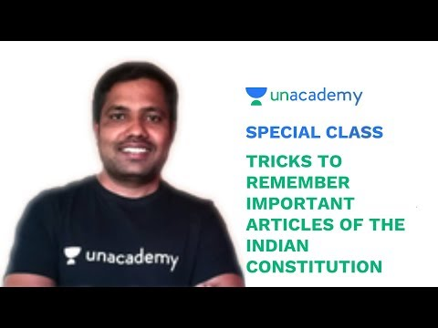 Special Class - Tricks to remember Important Articles of the Indian