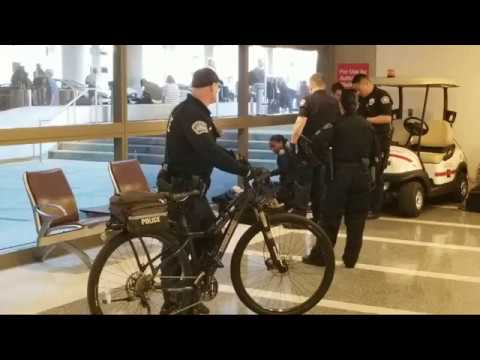 man arrested by lax airport police for having a warrant at Los Angeles International Airport