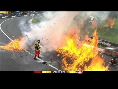 David Besnard huge crash Bathurst 1000 2011