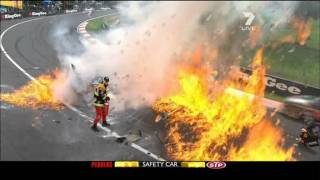 David Besnard huge crash Bathurst 1000 2011