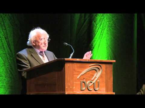 President Michael D. Higgins opens the IAMCR Conference in DCU 2013