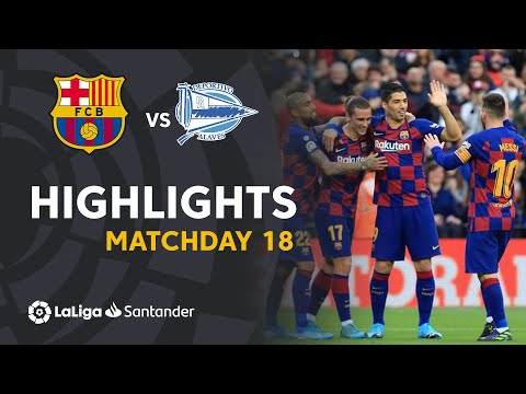 Highlights FC Barcelona Vs Deportivo Alaves (4-1)
