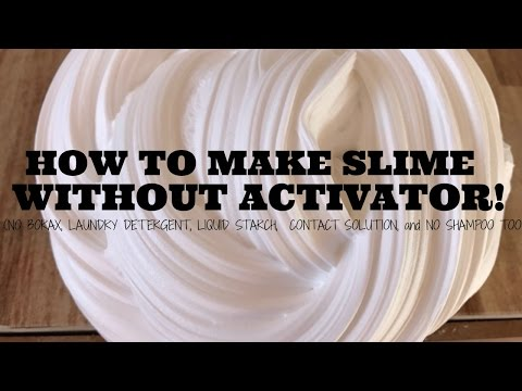 DIY SLIME WITHOUT ACTIVATOR - HOW TO MAKE SLIME WITH WOOD GLUE! NO BORAX