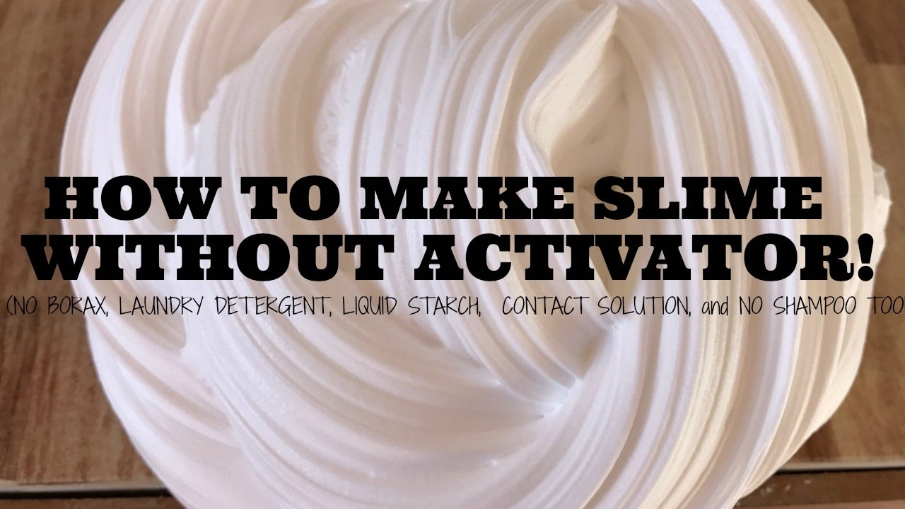 Diy Slime Without Activator  How To Make Slime With Wood Glue! No Borax