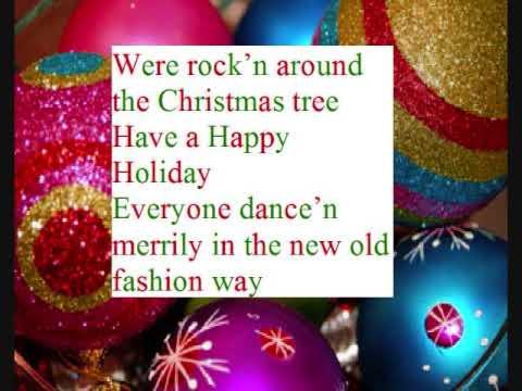 rock'n around the Christmas tree lyrics - YouTube