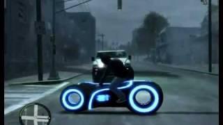 GTA IV Mod - мотоцикл из фильма 'Трон'