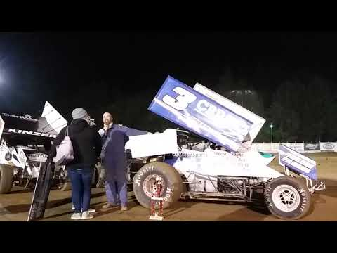 Iscs main event sprint cars 3 of 3 9-29-18