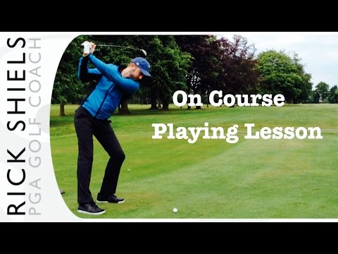 Playing Lesson On The Golf Course