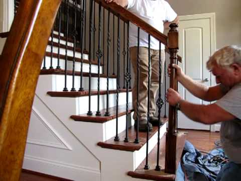 Interior stair repair September 15, 2009 - YouTube