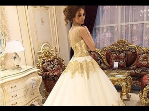 Wedding dress gold and white youtube wedding dress gold and white junglespirit Gallery