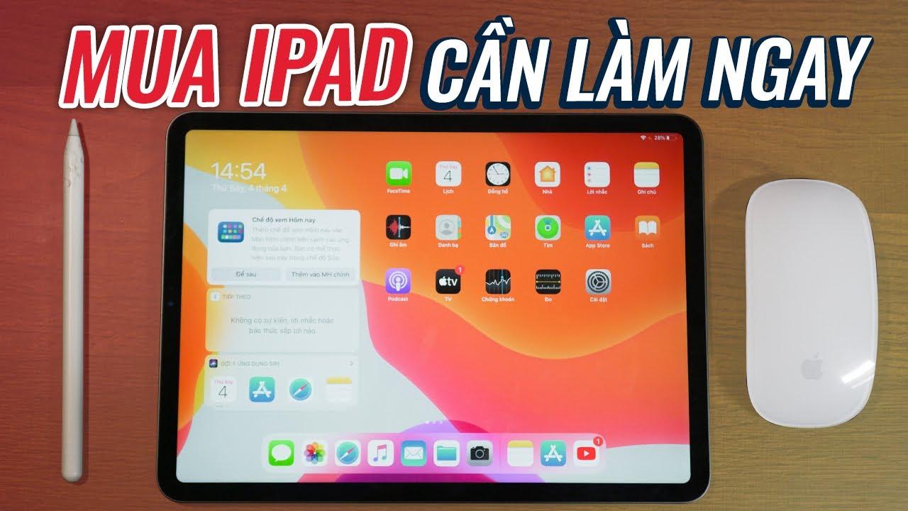 ANH EM PHẢI LÀM NGAY KHI VỪA MUA IPAD  iPad Tips \u0026 Trick