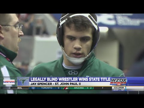 Legally blind HS wrestler had an awesome message for people after winning state title