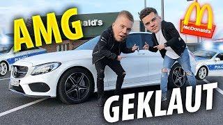 McDonalds PRANK | Auto klauen im McDrive (Mercedes AMG)