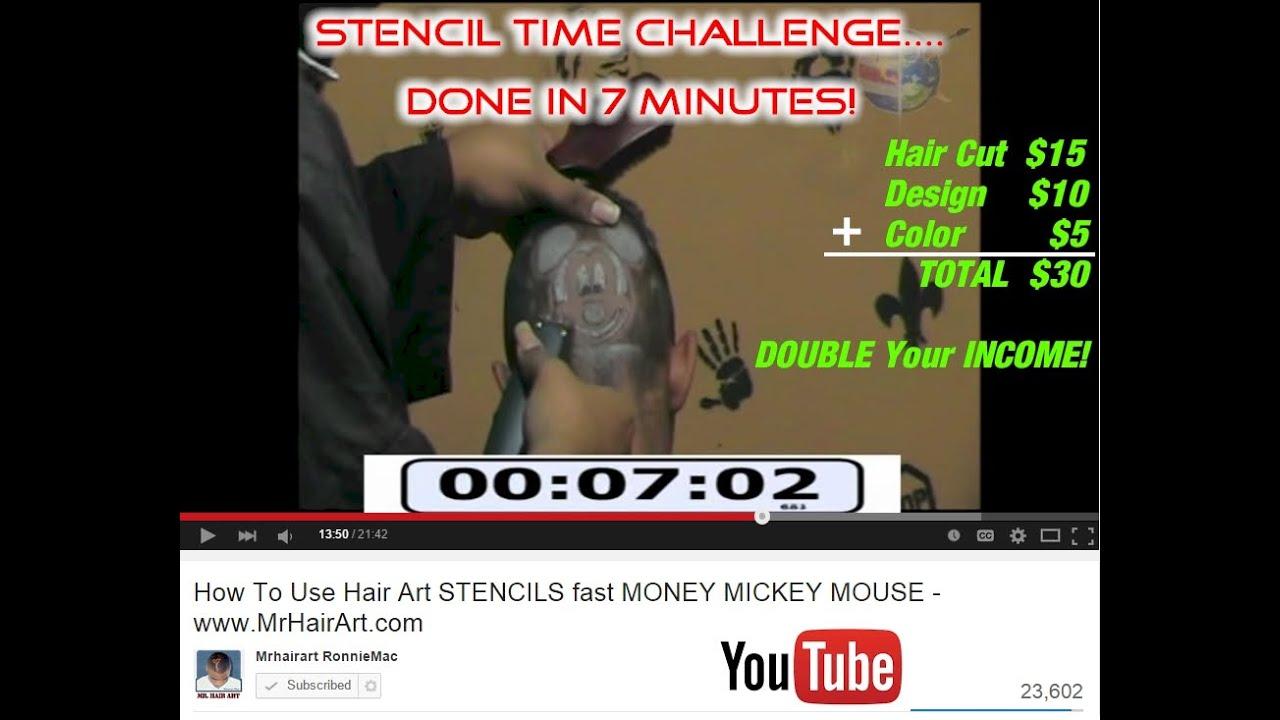 Hair Stencil Design Hair Cut In 7 Minutes Time Challenge Www