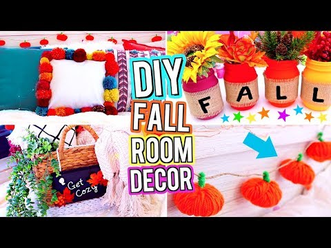 DIY ROOM DECOR! DIY Fall Room Decor! DIY Room Decorations!  Easy & Cute DIY's For Your Room!