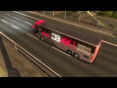 Euro Truck Simulator 2 Bus trip to Hannover with Volvo 9800