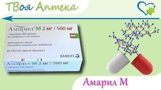 постер к видео Амарил М таблетки - показания, видео инструкция, описание, отзывы - Глимепирид, Метформин