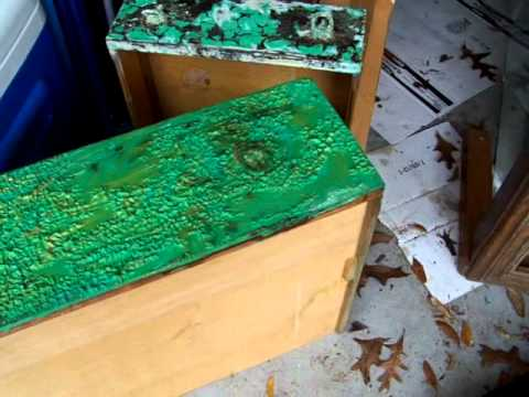 Stripping Paint off Old Dresser - the EASY way!
