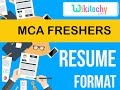 resume | mca freshers resume |  sample resume | resume templates | cv template | resume examples