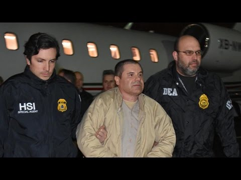 "Intense security escorts ""El Chapo"" to Brooklyn courthouse"