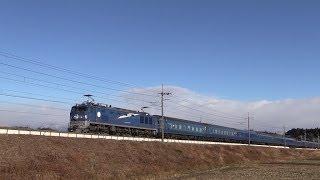2013年12月22日 片岡- 蒲須坂 の築堤から (斜めサイド) カシオペアEF5...