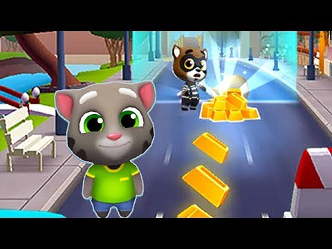 1 Hora de Talking Tom - Carrera sobre Obstaculos - el Gato TOM por el Oro