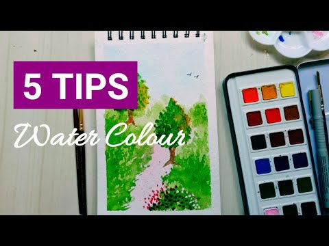 Watercolor Landscape Painting Tutorial for Beginners | 5 Tips