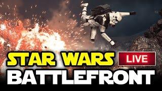Star Wars Battlefront LIVE - OUR SUPERBOWL! - Walker Assault Multiplayer Gameplay