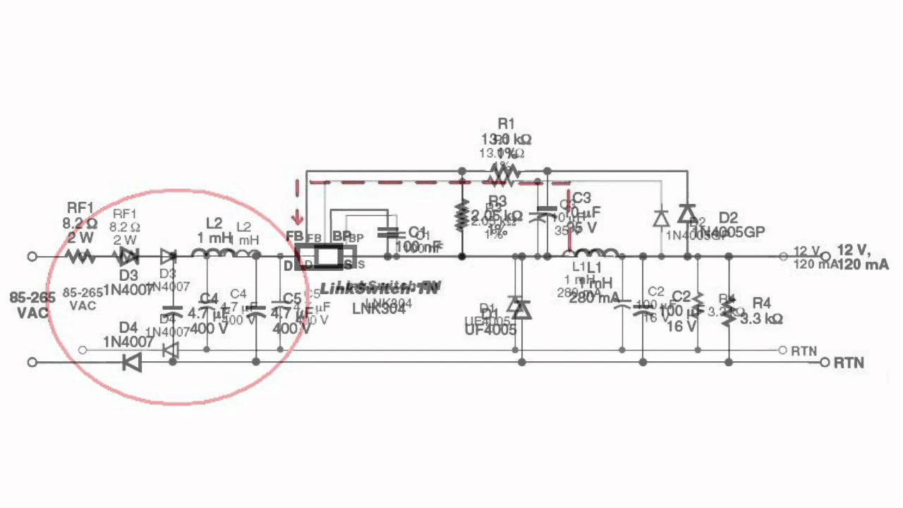 features of using ic lnk304 chip in psu
