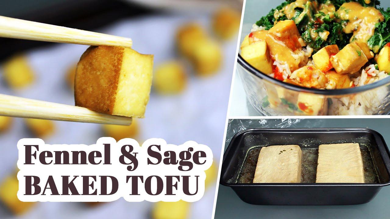 Fennel & Sage Baked Tofu | Vegan Recipe