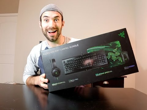 Razer Holiday Gaming Bundle (2017 version) Unbox and overview!