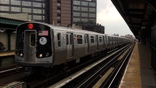 BMT Jamaica Line: (J) (Z) Exp and (M) Lcl Trains @ Flushing Ave (R32, R42, R143, R160A-1, R179)