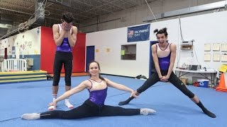 OUR MOM TEACHES US GYMNASTICS! thumbnail