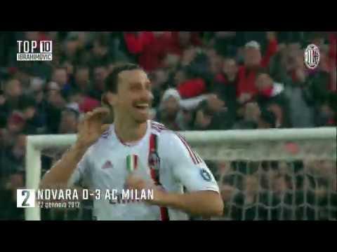 """Топ-10 голов Златана Ибрагимовича за """"Милан"""""""