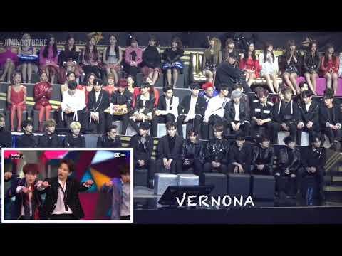 "MAMA 2018 - SEVENTEEN, TWICE, WANNA ONE, IZONE, GOT7 Reaction To 방탄소년단 BTS - ""IDOL"" in Hong Kong"