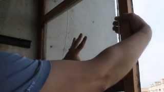 видео Остекление балконов деревянными рамами