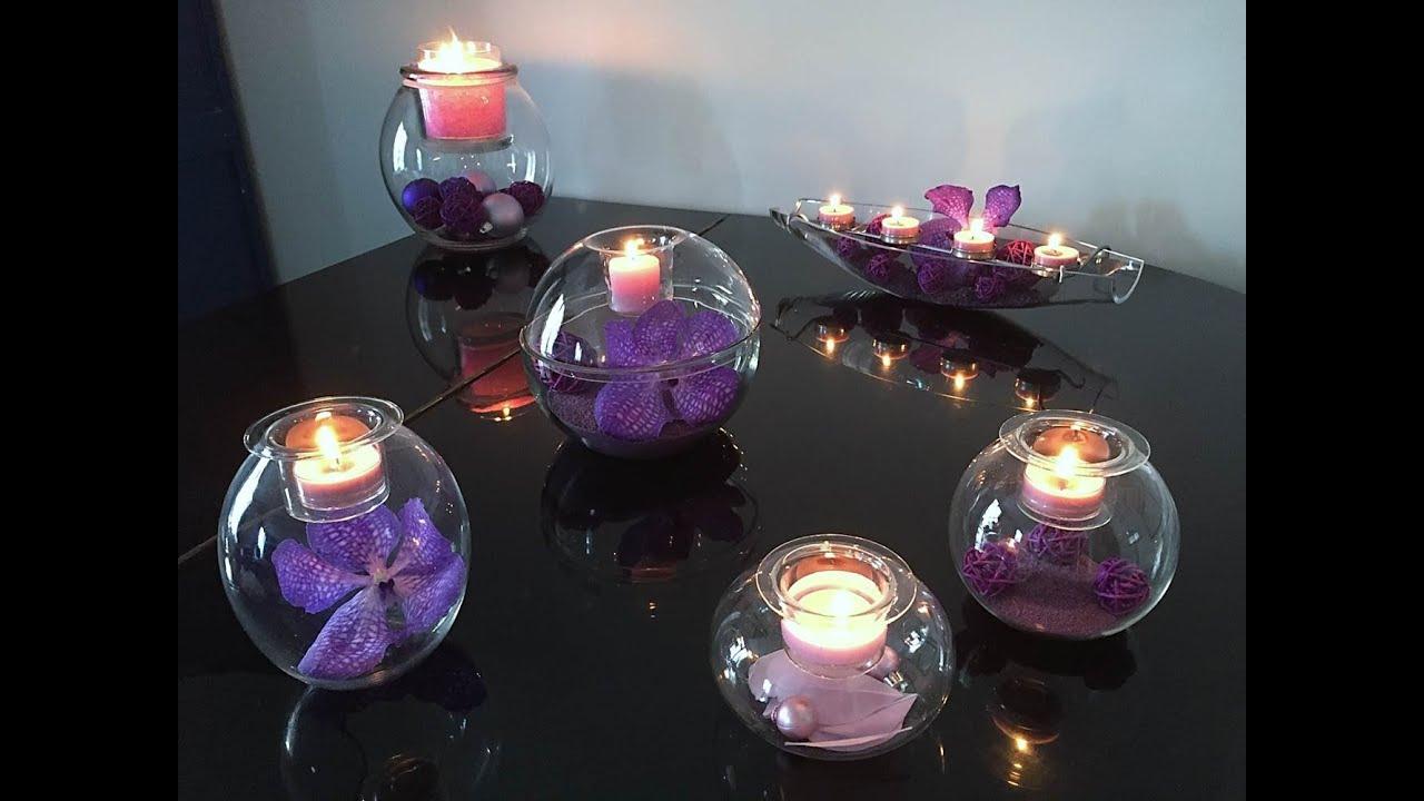 atelier d co color block violet partylite youtube. Black Bedroom Furniture Sets. Home Design Ideas